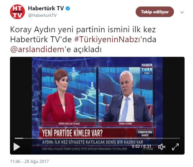 Koray Günter Yüz Çalışması: Akşener'in Danışmanından Koray Aydın'a Jet Yalanlama