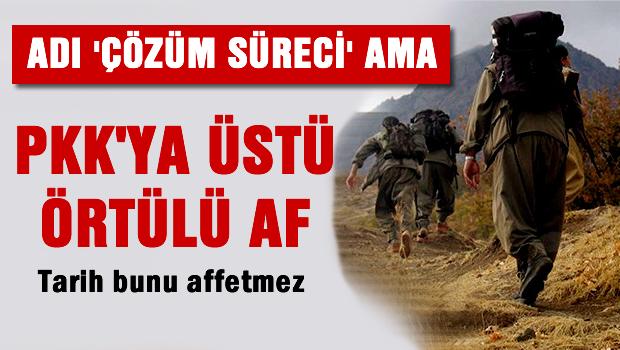Kod Adı 'çözüm süreci' PKK'ya üstü örtülü af
