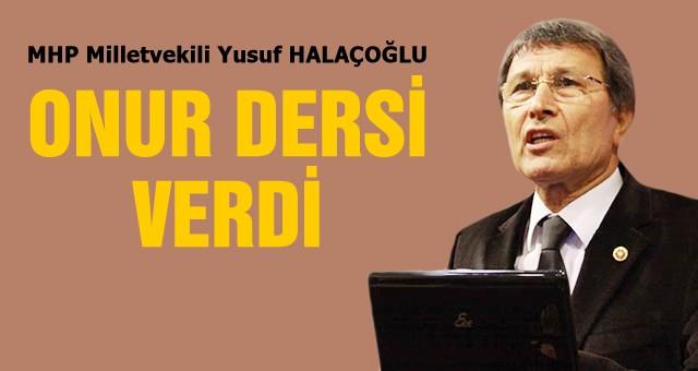 Yusuf Halaçoğlu Onur dersi verdi