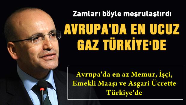 �im�ek: En ucuz do�algaz T�rkiye'de