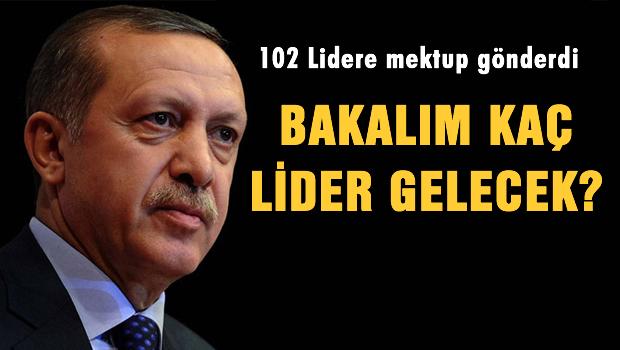 Erdoğan 102 ülke liderine mektup gönderdi