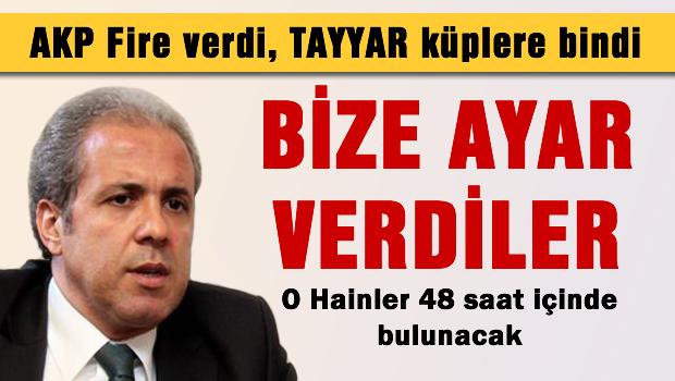 AKP fire verdi Tayyar küplere bindi
