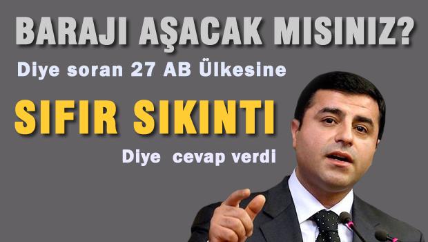 Demirtaş 27 AB büyükelçisiyle seçim barajını tartıştı