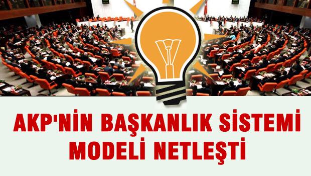 AKP'nin ba�kanl�k sistemi modeli netle�iyor