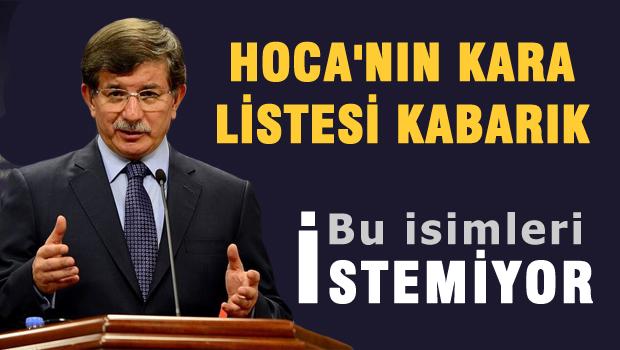 Davutoğlu bu isimleri AKP'den aday yapmıyor