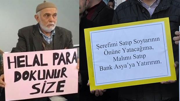 Bank Asya müşterilerinden AKP'ye anlamlı göndermeler