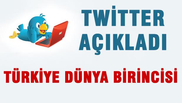 Twitter'da tweet sildirmede dünya birincisi olduk