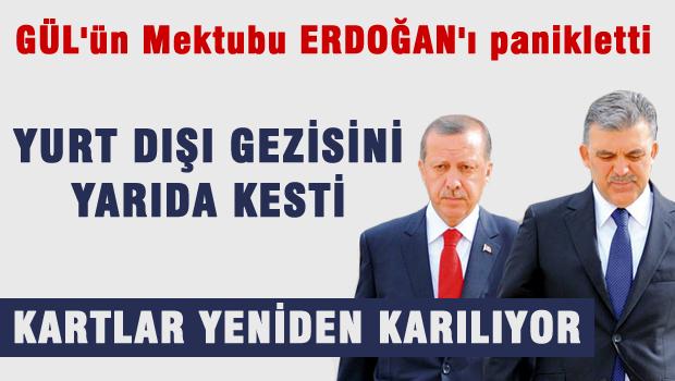 Gül vekiillere mektup yazdı, Erdoğan gezisini yarıda bıraktı?