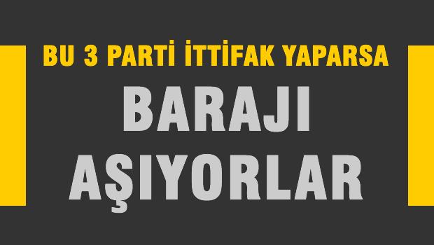 3 PART� �TT�FAK YAPARSA BARAJI GE��YOR!