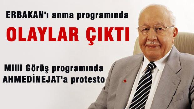 Erbakan'� anma program�nda olaylar ��kt�