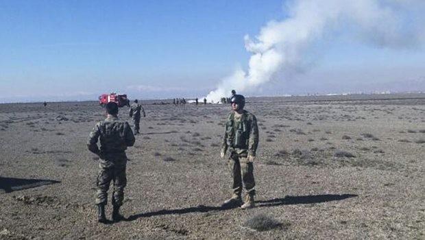 Konya'da askeri uçak düştü: 2 pilot şehit!