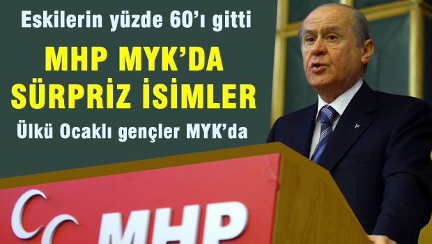 MHP, MYK'da s�rpriz isimler eskilerin y�zde 60'� gitti