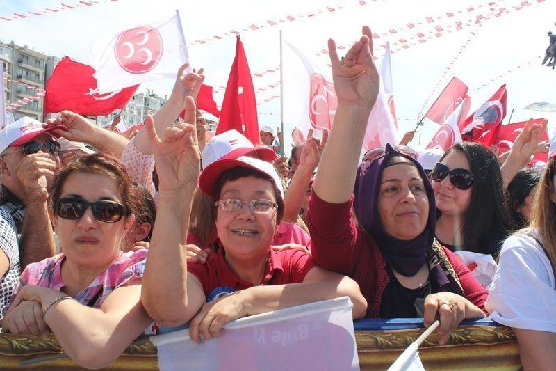 MHP İzmir'de alanlara sığmadı - Foto Haber