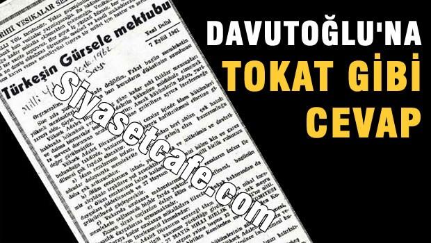 Davutoğlu'na cevap veren mektup!