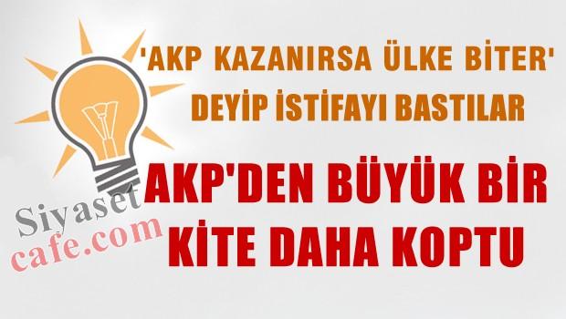 'AKP kazan�rsa �lke batar' deyip istifa ettiler bu seferki dalga �ok b�y�k