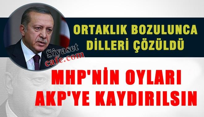 Erdo�an: MHP oylar�, AKP'ye kayd�r�ls�n..