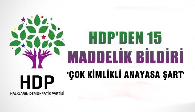 HDP'den 15 maddelik bildirge!