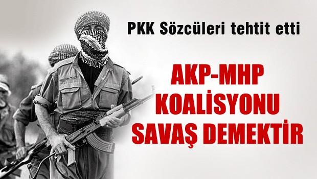 KCK 'AKP-MHP Koalisyonu savaş demektir'