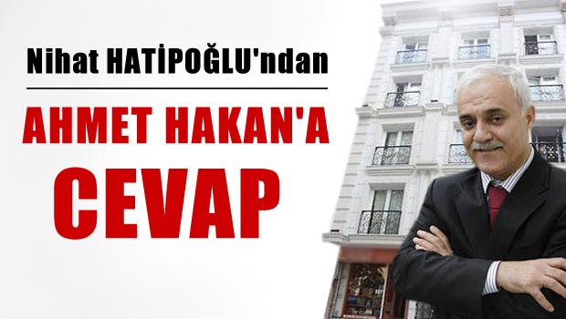 Hatipo�lu'ndan Ahmet Hakan'a cevap