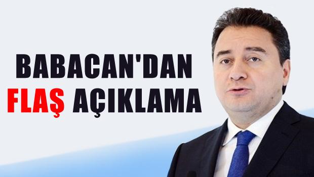 Ali Babacan'dan koalisyon ve erken se�im a��klamas�
