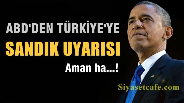 ABD'den Türkiye'ye sandık uyarısı