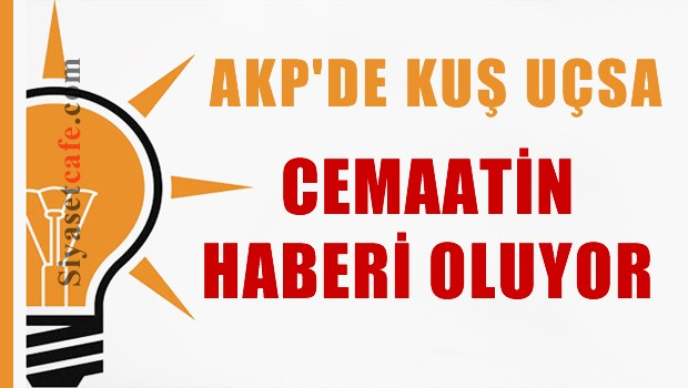 AKP'de kuş uçsa cemaatin haberi oluyor