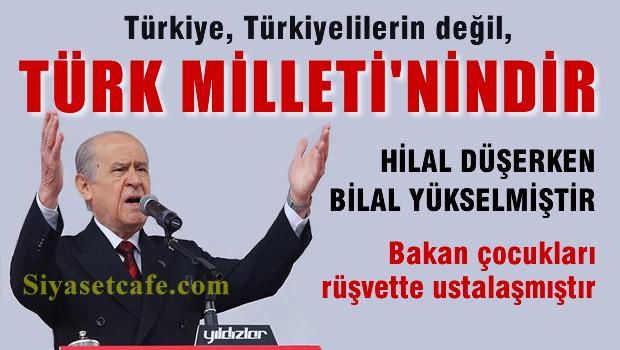 Bahçeli, İstanbul Mitinginde konuştu 'Hilal düşerken, Bilal Yükseldi'