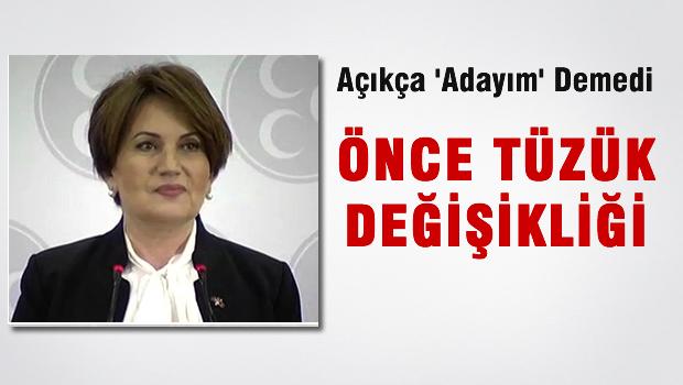 Meral Ak�ener'in adayl�k a��klamas�
