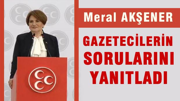 Eski MHP milletvekili Meral Ak�ener ola�an�st� kurultay �a�r�s� yapt�.