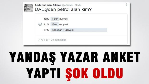 Dilipak'ın twitter anketi şaşırttı!
