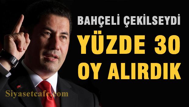 'Bahçeli çekilseydi MHP yüzde 30 oy alırdı'