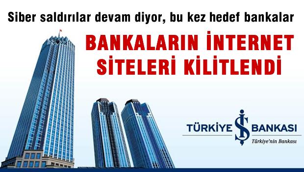 Bankaların internet sitesi kilitlendi
