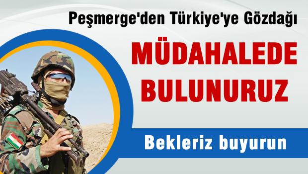Peşmerge'den Türkiye'ye gözdağı 'Müdahalede bulunuruz'