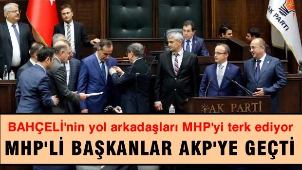 MHP'li başkanlar istifa edip AKP'ye geçti