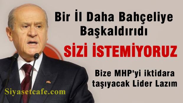 MHP Eskişehir teşkilatı Bahçeli'ye hayır dedi