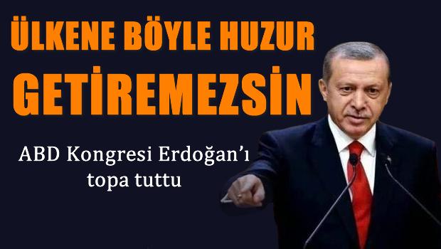 ABD Kongresi Erdo�an'� topa tuttu