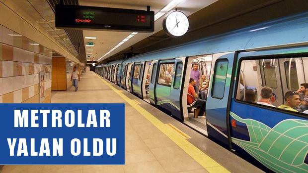 İstanbul'da Metro İnşaatları  ''YALAN' Yalan Oluyor