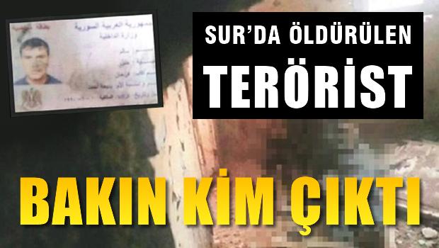 Sur'da öldürülen terörist bakın hangi ülkenin ajanı çıktı!