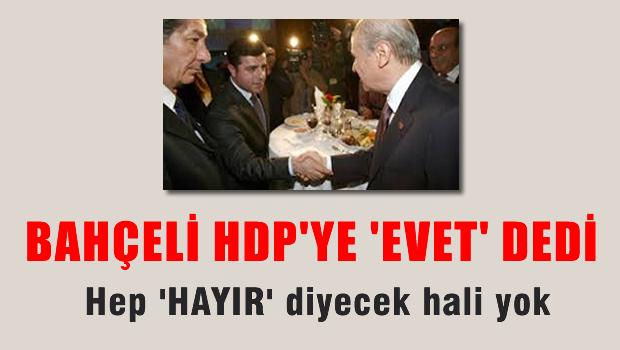 Bahçeli'den HDP'ye 'EVET' dedi