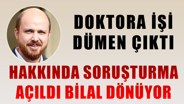 İtalya'da Soruşturma Açıldı, Bilal Türkiye'ye Dönüyor