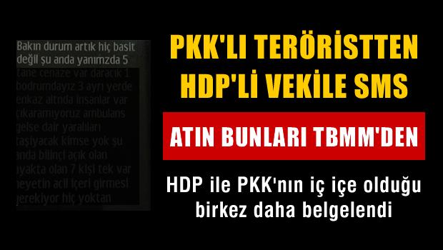 PKK'lı teröristten, HDP'li vekile SMS
