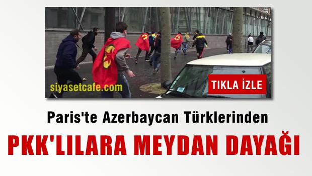 Paris'te Azerbaycan Türklerine saldıran PKK'lılar böyle kaçtı