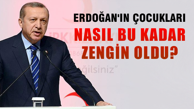 Erdoğan'ın çocukları nasıl bu kadar zengin oldu?