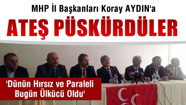 MHP Eski İl Başkanları, Koray Aydın'ın 'Akşener' hakkında yaptığı açıklamaları kınadı