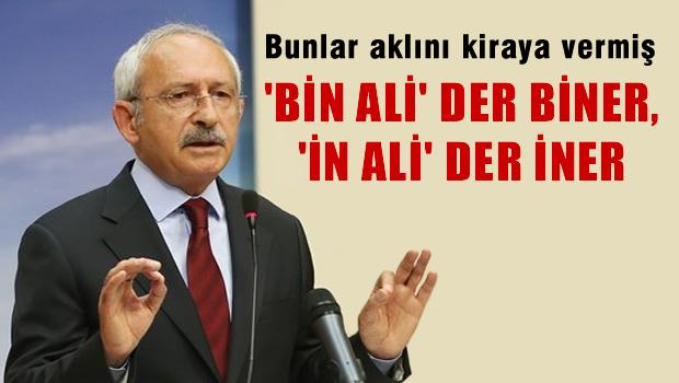 K�l��daro�lu: 'Bin Ali' derler biner, '�n Ali' derler iner