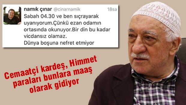 Cemaat yazarı Namık Çınar'dan İslam'ı aşağılayan sözler