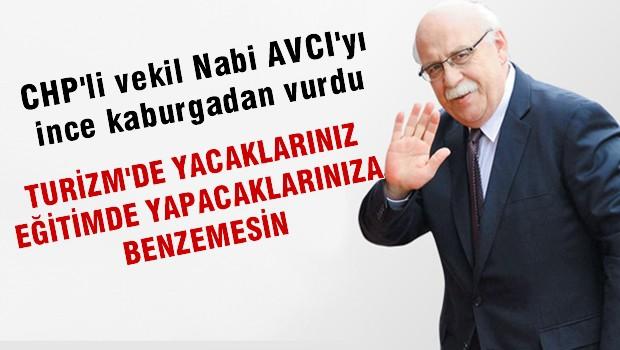 CHP'li Vekil'den Avcı'ya: Kültür ve turizm'de yapacaklarınız eğitimde yaptıklarınıza benzemesin