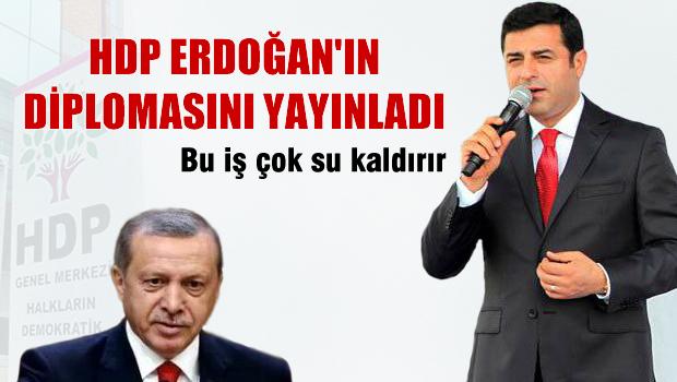 HDP, Erdoğan'ın diplomasını yayınladı