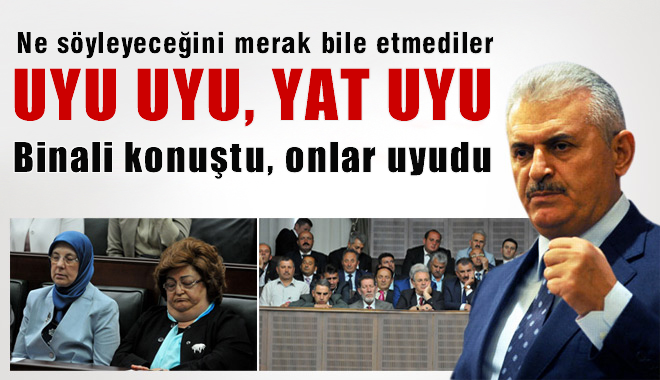 Binali Yıldırım Konuştu AKP'liler Uyudu