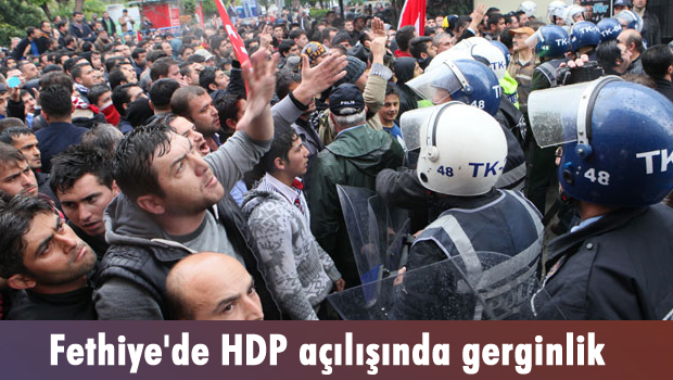 HDP Fethiye gerginlik